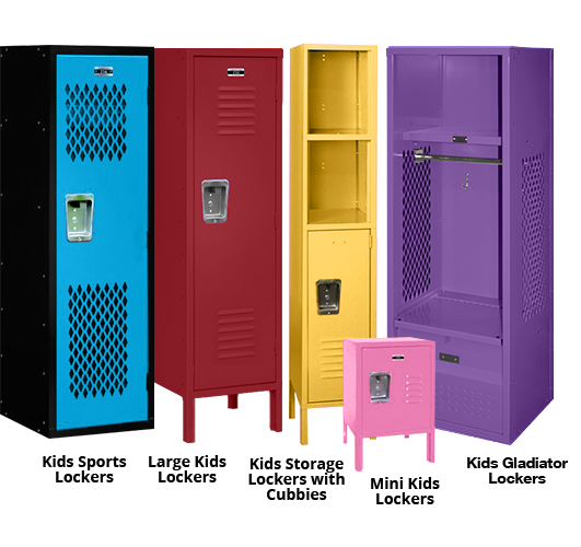 Kids Lockers | Colorful Kids Storage Lockers for Bedrooms & Homes